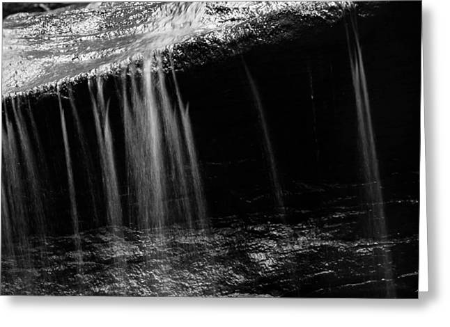 Greeting Card featuring the photograph Curtain Of Water by Haren Images- Kriss Haren