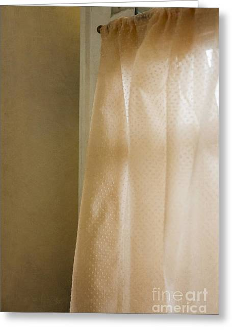 Curtains Greeting Card by Margie Hurwich
