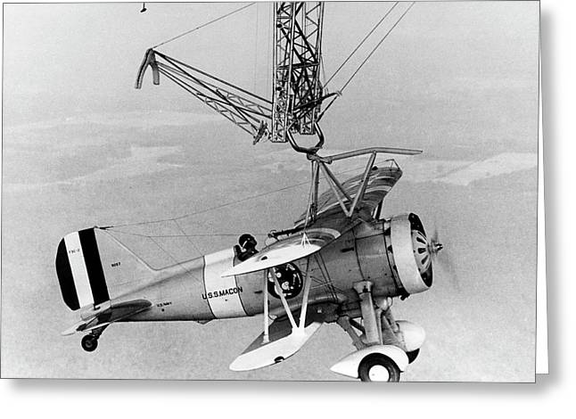 Curtiss F9c-2 'sparrowhawk' Fighter Plane Greeting Card by Us Navy/science Photo Library