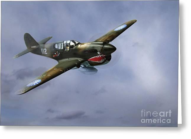 Curtiss P-40 Warhawk Greeting Card