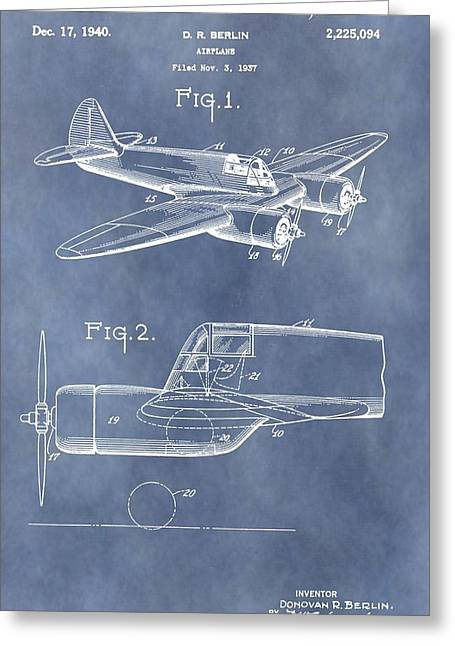 Curtiss-wright Cw-25 Patent Greeting Card