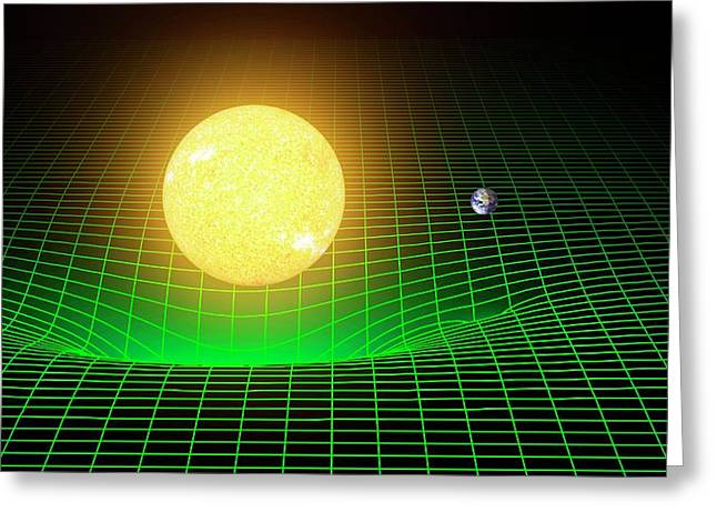 Curvature Of Spacetime Greeting Card