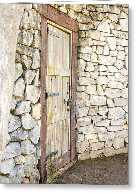 Curved Door Greeting Card