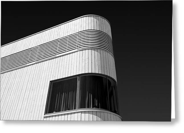 Curved Window Greeting Card by Dave Bowman
