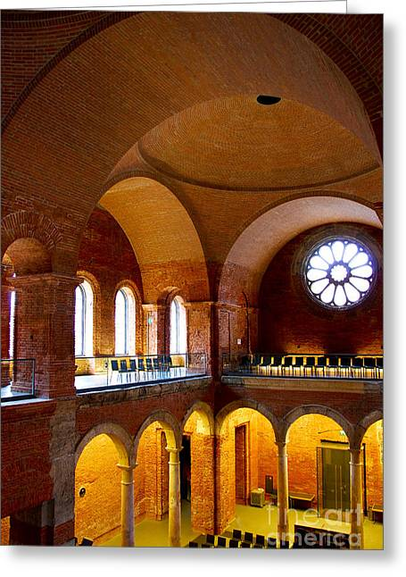 Curves And Arches Greeting Card by Syed Aqueel