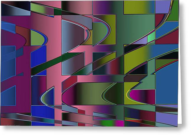 Curves And Trapezoids 3 Greeting Card