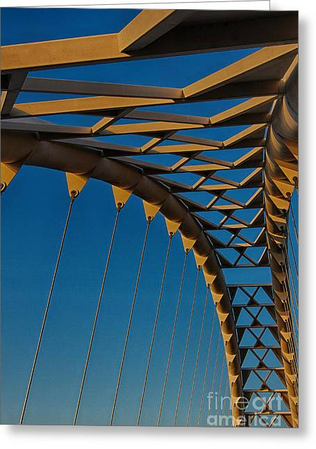Curves And Triangles Greeting Card