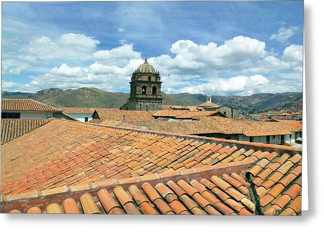 Cusco, Peru, Red Tiled Rooftops Greeting Card