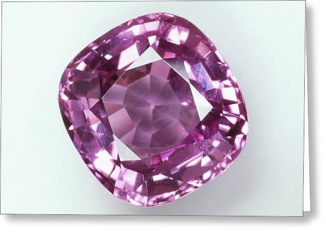 Cushion Mixed-cut Pink Sapphire Greeting Card by Dorling Kindersley/uig