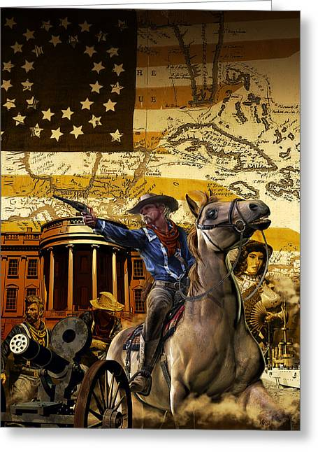 Custer In Chains Greeting Card by Kurt Miller