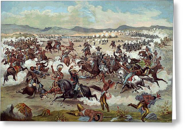 Custer's Last Charge Greeting Card by Unknown