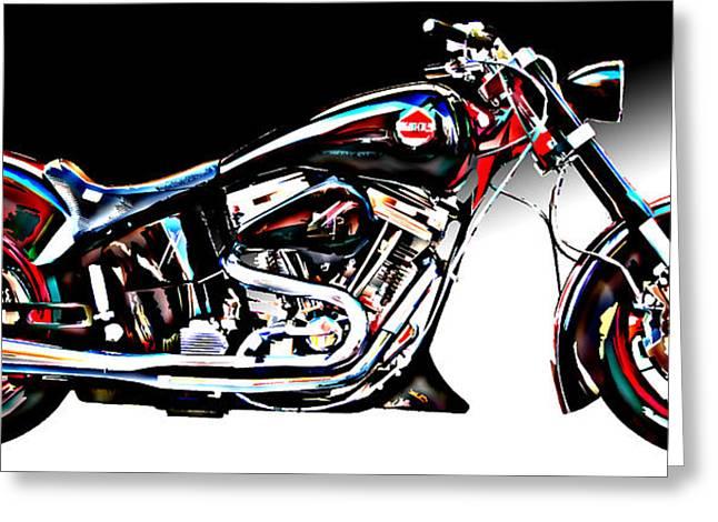 Custom Bike Study 1 Greeting Card by Samuel Sheats