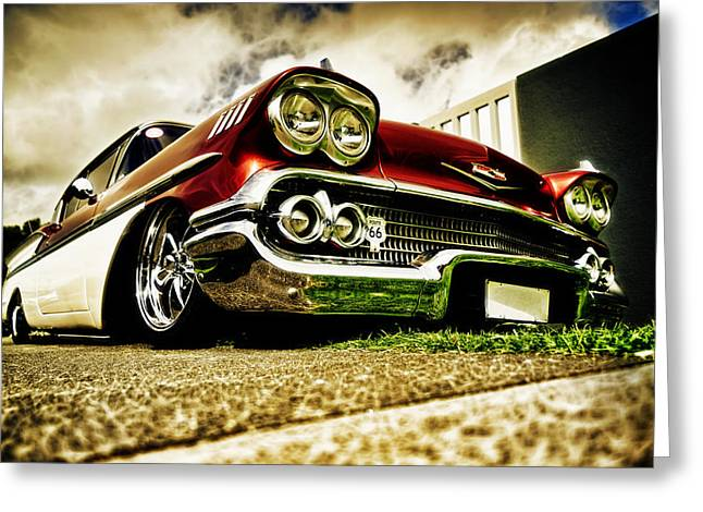 Custom Chevrolet Bel Air Greeting Card by motography aka Phil Clark