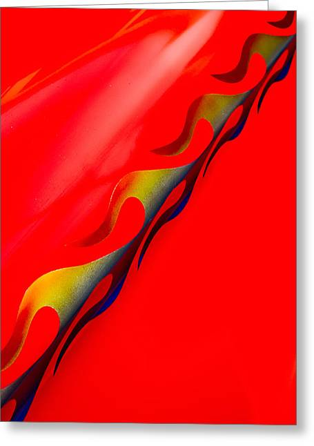 Custom Flame Greeting Card by Phil 'motography' Clark