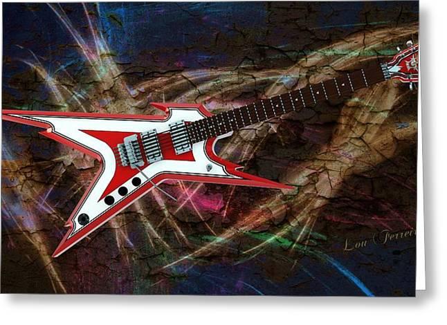 Custom Guitar  Greeting Card