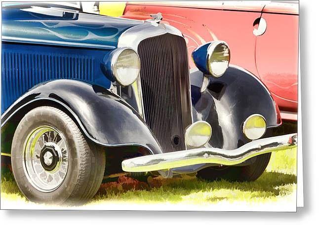 Custom Hot Rod Greeting Card