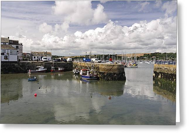 Custom House Quay And Falmouth Harbour Greeting Card