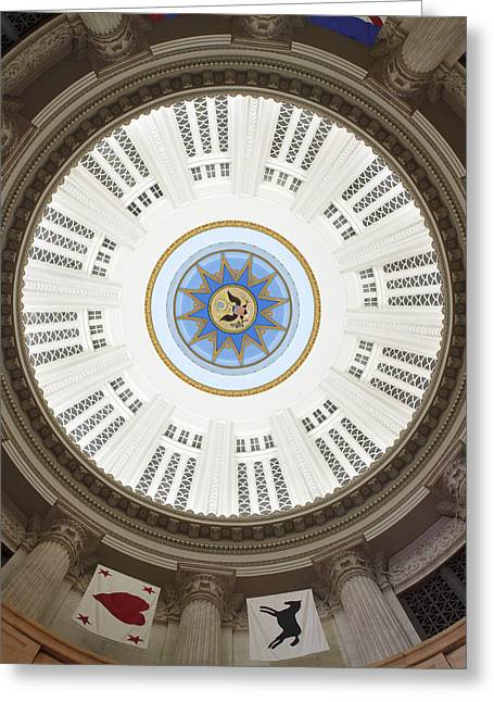 Custom House Tower Ceiling Boston Greeting Card by Norman Pogson