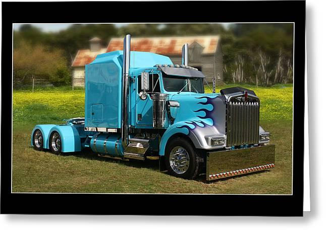 Greeting Card featuring the photograph Custom Kenworth by Keith Hawley