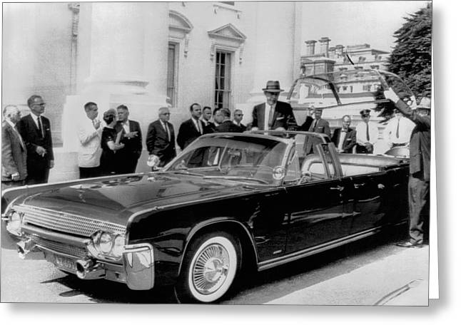 Custom Lincoln Limo For Jfk Greeting Card by Underwood Archives