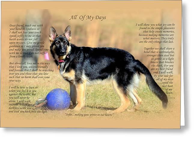 Custom Paw Print Sofie Greeting Card
