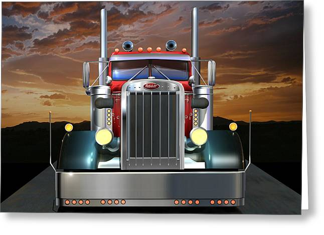 Custom Peterbilt Greeting Card