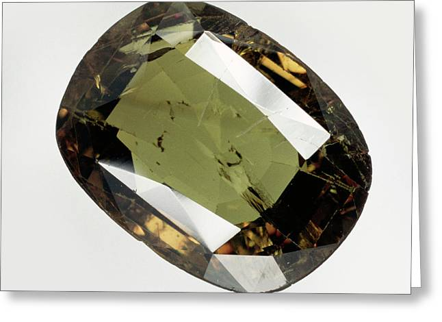 Cut And Polished Alexandrite Gemstone Greeting Card