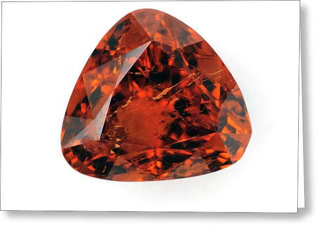 Cut Spessartine Gemstone Greeting Card by Dorling Kindersley/uig