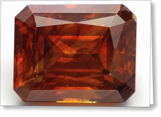 Cut Sphalerite Gemstone Greeting Card by Dorling Kindersley/uig