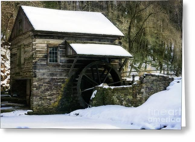 Greeting Card featuring the photograph Cuttalossa Farm In Winter by Debra Fedchin