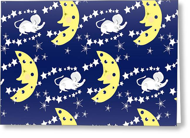 Cute Childish Seamless Pattern With Greeting Card