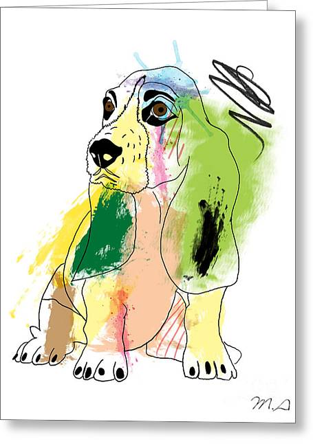 Cute Dog 2 Greeting Card