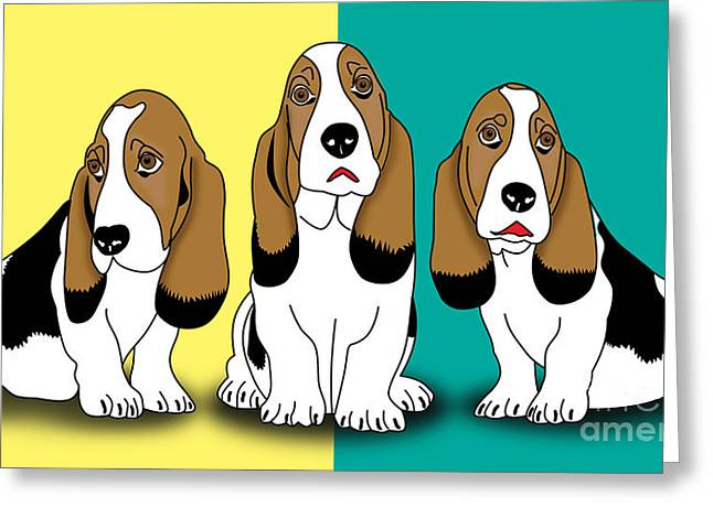 Cute Dogs  Greeting Card by Mark Ashkenazi