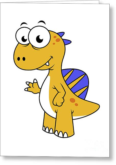 Cute Illustration Of A Spinosaurus Greeting Card by Stocktrek Images