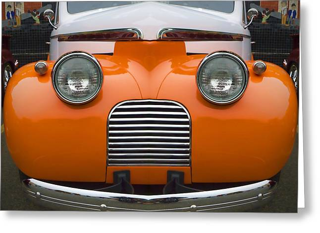 Cute Little Car Faces Number 5 Greeting Card