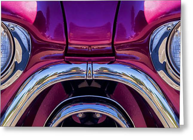 Cute Little Car Faces Number 7 Greeting Card