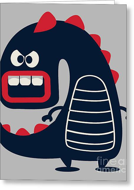 Cute Monster Vector Greeting Card
