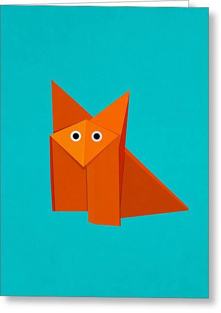 Cute Origami Fox Greeting Card