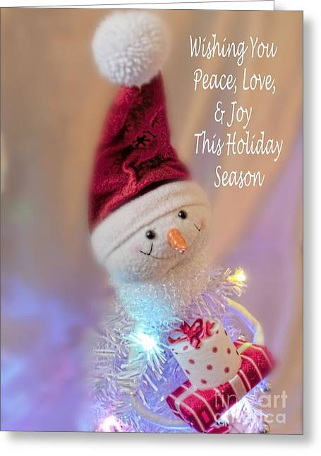 Cutest Snowman Christmas Card Greeting Card