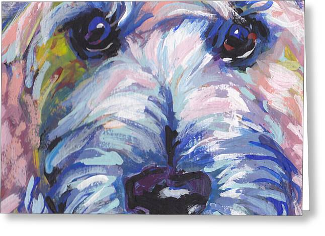 Cutey Face Greeting Card by Lea S