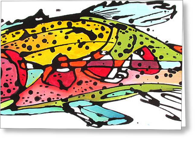 Greeting Card featuring the painting Cutthroat Trout by Nicole Gaitan