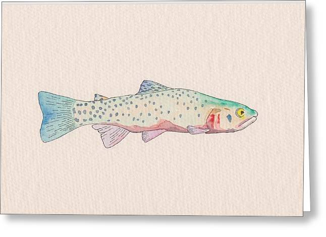 Cutthroat Trout Greeting Card by Stephen Moore