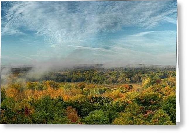 Cuyahoga Valley Panarama Greeting Card by Daniel Behm