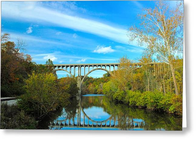 Cuyahoga Valley Scenic Railroad - Brecksville Station Greeting Card by Dennis Lundell