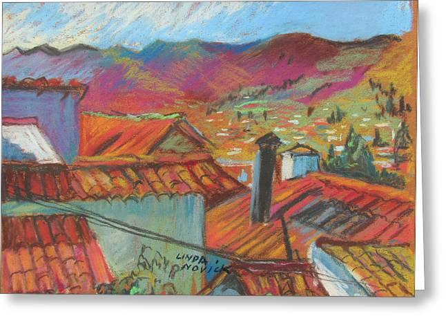 Cuzco Rooftops Greeting Card