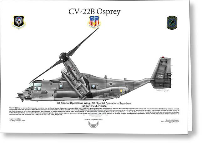 Cv-22b Osprey 8th Sos Greeting Card by Arthur Eggers