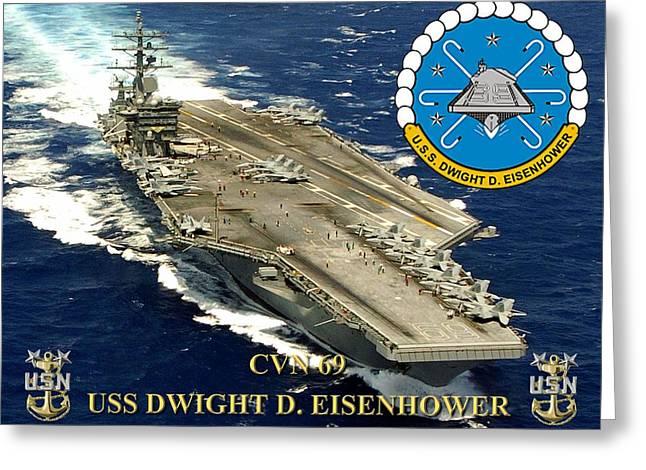 Cvn-69 Uss Dwight D. Eisenhower Greeting Card
