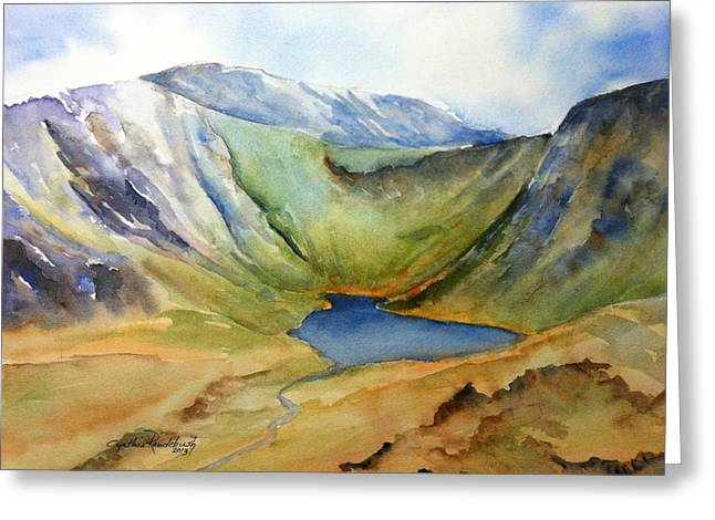 Cwm Idwal Snowdonia Greeting Card