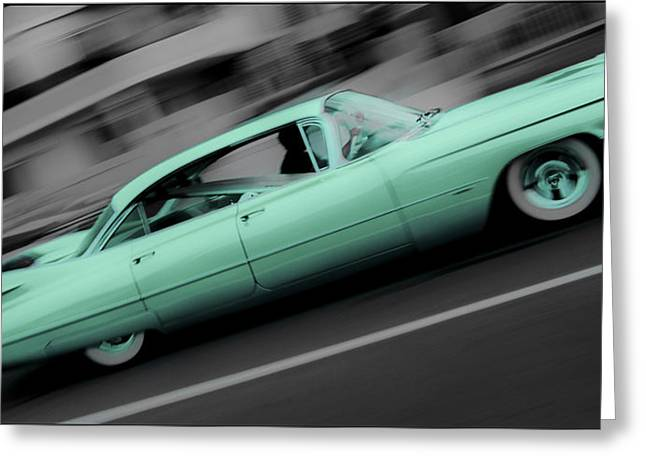 Cyan Caddy Greeting Card by Phil 'motography' Clark