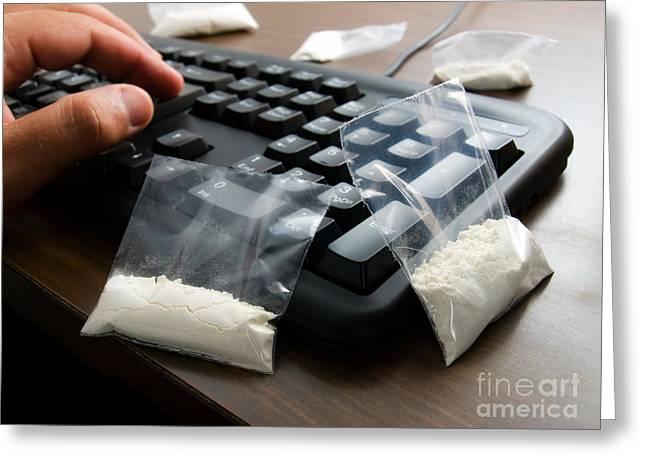 Cyber Drug Dealer Greeting Card